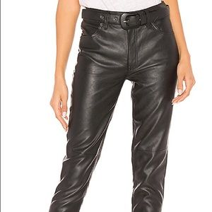 NWOT Free People Belted Vegan Faux Leather Pants